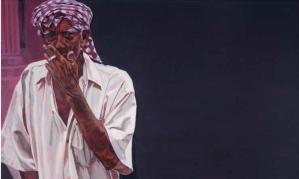 Pasar Siti Khadijah, 12:14pm 92cm (h) x 153cm (w) Acrylic on Canvas 2014