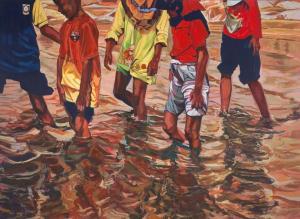 Pantai Dasar Sabak, 03:46pm 122cm (h) x 168cm (w) Acrylic on Canvas 2014