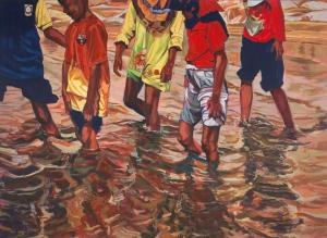 Pantai Dasar Sabak, 03:46pm 122cm (h) x 168cm (w) Acrylic on Canvas 2014