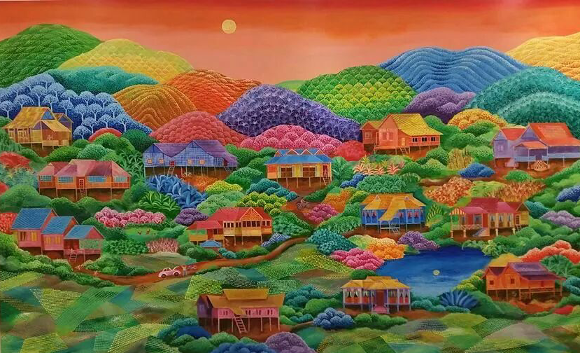 Aliakhbar Othman  The Great Malaysian Landscape 130cm x 214cm  acrylic on canvas