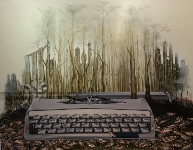 Musim Akhir Tahun Saftari Arylic on canvas 120cm x 150cm