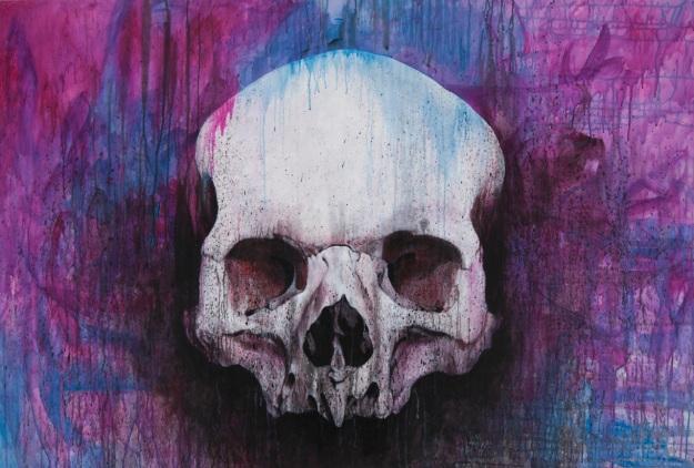 Ada Apa dengan Skull  2014 / Acrylic on canvas / 108 x 160 cm