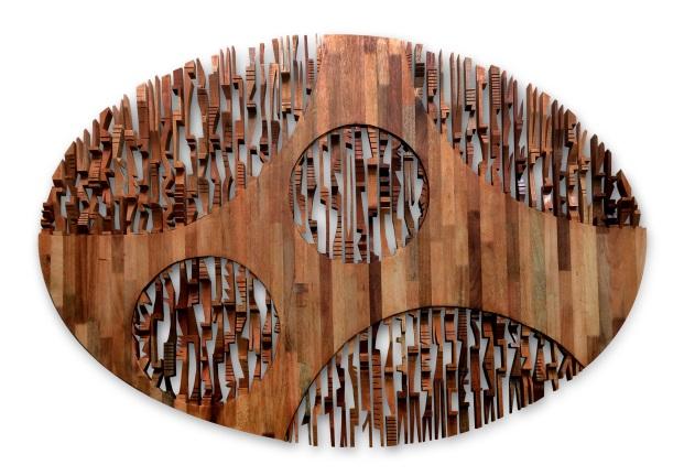 Anniketyni Madian  Bali Belulai III 5ft x 7ft woods 2014