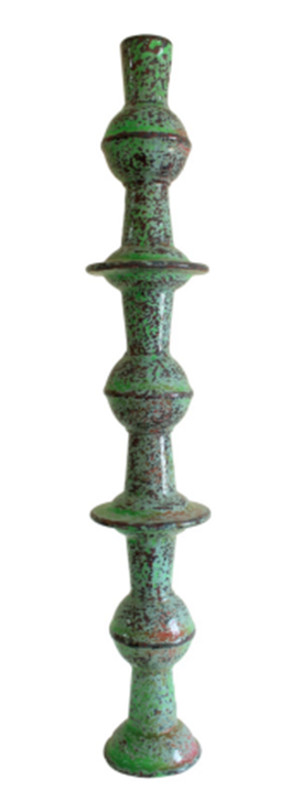 PLT 8 Melamine tableware, Puttyfilla, sand, cement and enamel paint 108 x 20 (diameter) cm 2014