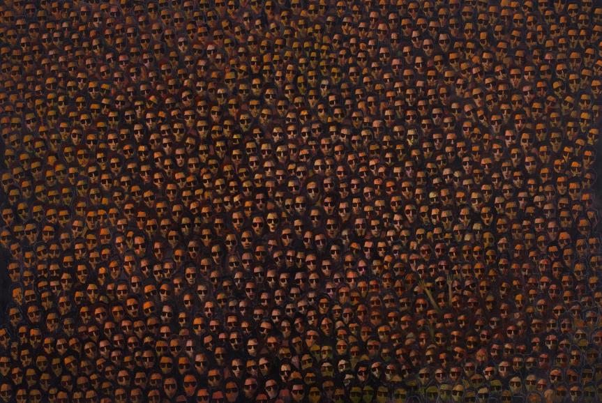 Flare 2015 Acrylic on canvas 120 x 152 cm
