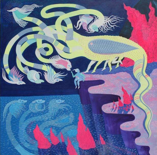 Hydra Acrylic on Canvas 610mm x 610mm 2015
