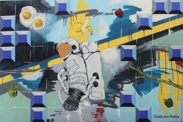 Aleff Ahmad Guided Meditation Industrial Paint and Acrylic on Canvas 100cm x 150cm 2015