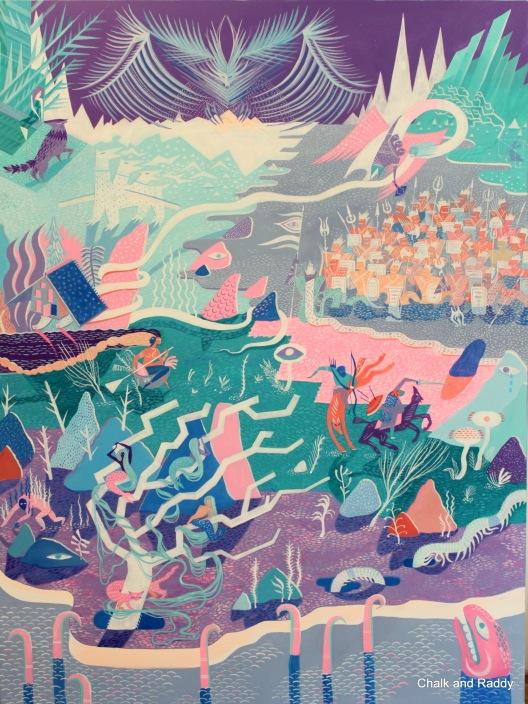 Elena Kravchenko Lukomorie Acrylic on Canvas 91cm x 122 cm 2015