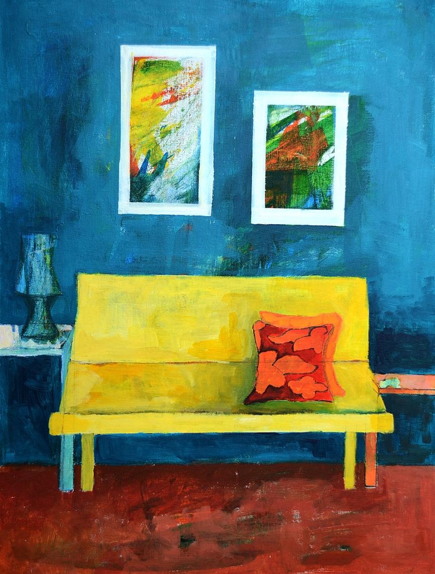 Acrylic on canvas-40.60cm