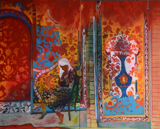 Anahita Ghazanfari. Harbouring Dreams Number 1. Acrylic on Canvas. 160.120cm. 2016.